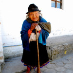 Aged Quechua lady, Otavalo market, Ecuador