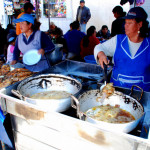 Fried talapia anyone? Otavalo market, Otavalo, Ecuador