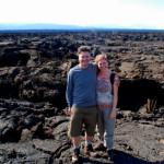 A truly barren volcanic landscape, Isabela Island, Galapagos Islands, Ecuador