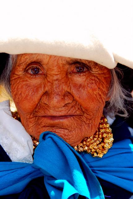 Indigenous Quechua woman, Otavalo market, Ecuador