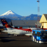 Mt. Cotopaxi and Quito airport, Ecuador, South America