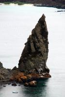 Volcanic spire, Bartolome Island, Galapagos Islands, Ecuador