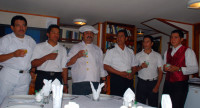 Crew of the MV Samba, Galapagos Islands, Ecuador