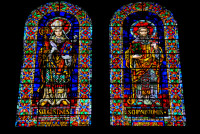 Stain glass windows, Cathedral of the Immaculate Conception, Cuenca, Ecuador