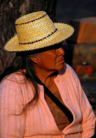 Local Cuenca woman watches the world go by