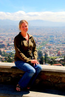 Christi at the mirador de Turi, Cuenca, Ecuador