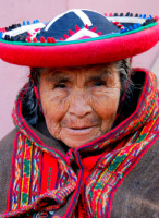 The grandmother of all Quechuan weavers, Chinchero, Sacred Valley, Peru