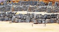 Huge teraces at the Inca site of Saqsaywaman, Cusco, Peru