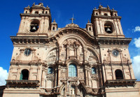 Facade, la Compania de Jesus church, Cusco, Peru