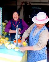 Juice stand, Cusco, Peru