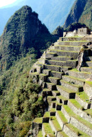 Some seriously steep terracing, Machu Picchu, Peru