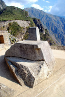 The Intihuatana stone, Machu Picchu, Peru