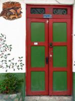 Beautiful door decoration, Cuenca, Ecuador