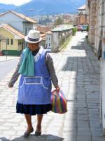 Local indigenous woman, Cuenca, Ecuador