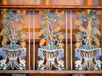 Wrought-iron balcony detail, Cuenca, Ecuador