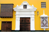 Beautiful colonial architecture, Trujillo, Peru