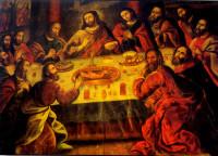 Last Supper by Marcos Zapata, Santo Domingo cathedral, Cusco, Peru