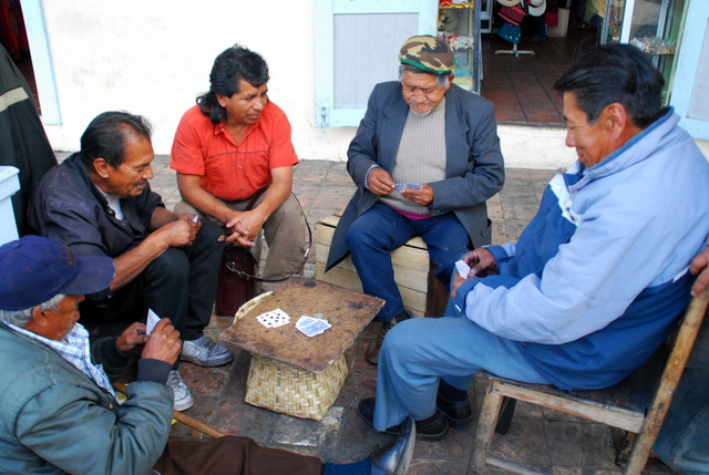 Card players, Cuenca, Ecuador