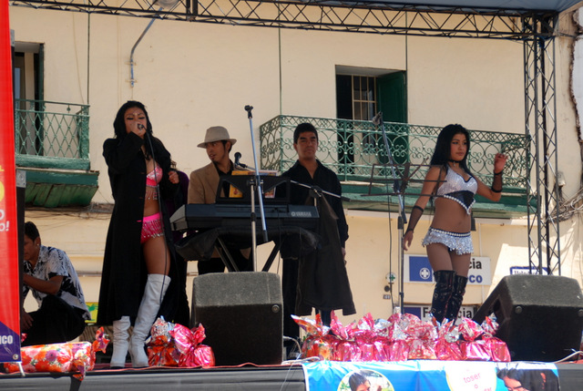 Charity rock concert, Cusco, Peru