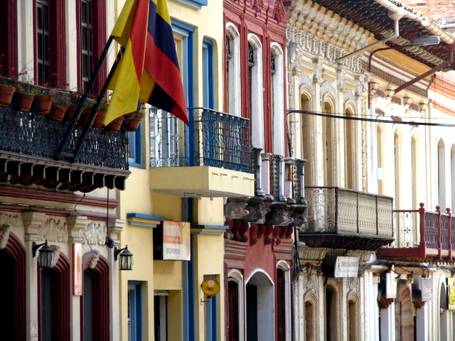 Exquisite colonial architecture, Cuenca, Ecuador