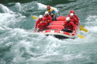 Here we go! White water rafting on the Rio Manso, Argentina