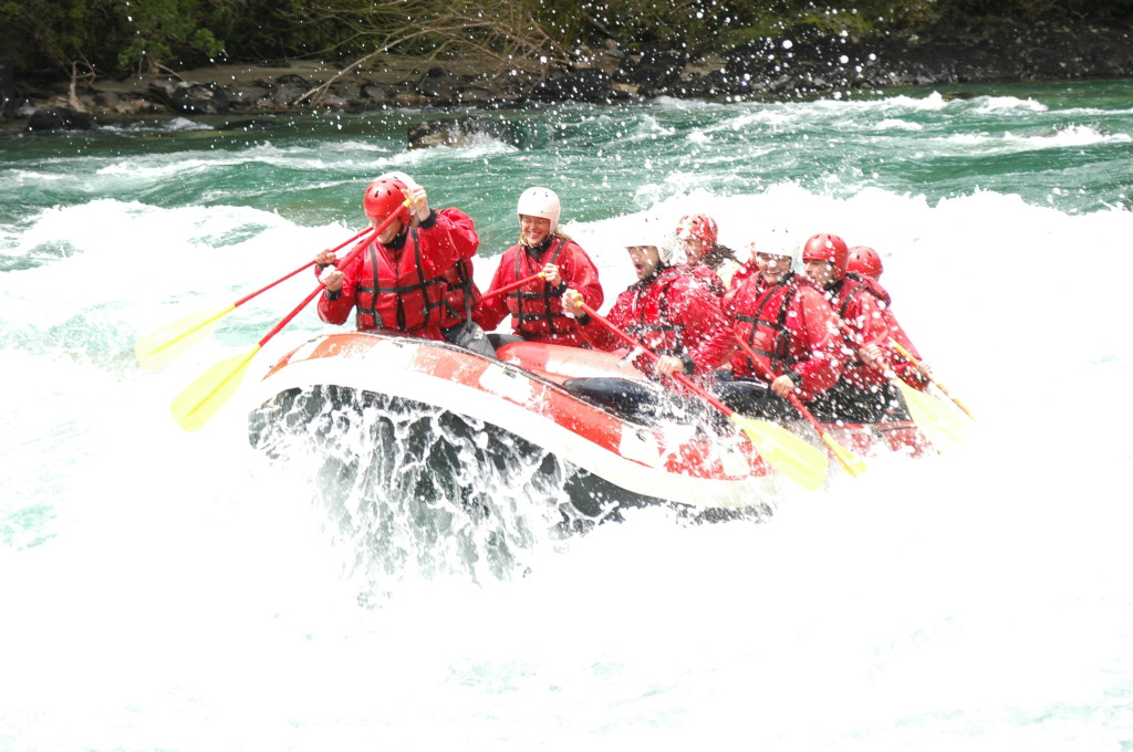 white water rafting on the Rio Manso, Argentina