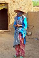Eccentric Fulani elder, village of Senossa, Mali, Africa
