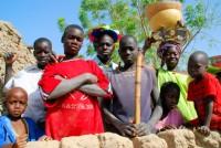 A little Fulani attitude, village of Senossa, Mali, Africa
