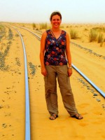 We found the train tracks, Mauritania, Africa
