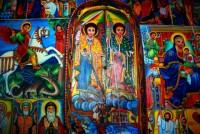 Mural, Entos Eyesu Monastery, Lake Tana, Ethiopia, Africa