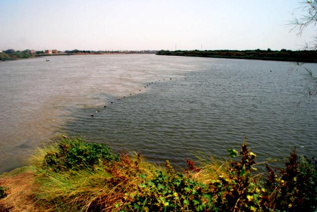 al-Mogran (The Confluence of the White Nile [left] and Blue Nile [right]), Khartoum, Sudan, Africa