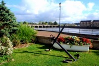 River Taw and The Long Bridge, Barnstaple, UK