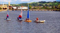 Sailing on the River Taw, Barnstaple, UK