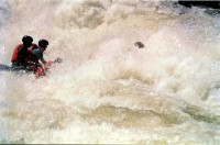 Rafting the Nile at Jinja (oh dear this does not end well), Uganda, Africa