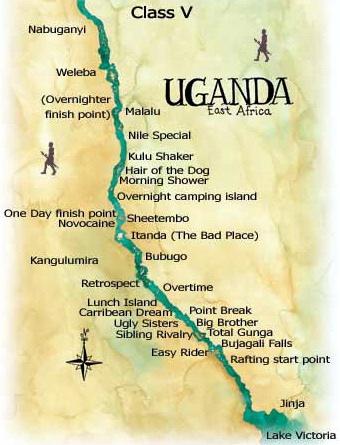 jinja uganda africa map