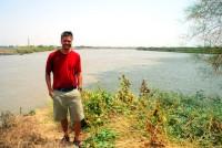 The confluence of the Blue Nile [right] and White Nile [left], Khartoum, Sudan, Africa